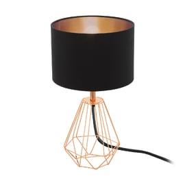 Lampada da comodino Carlton 2 rame, nero, in tessuto, E14 MAX 60W IP20 EGLO