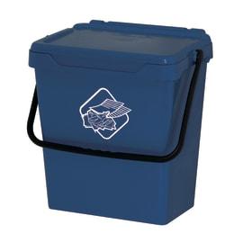 Pattumiera manuale blu 30 L