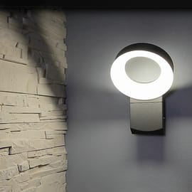 Applique Lima LED integrato in alluminio, grigio, 14W 1100LM IP54 INSPIRE