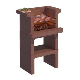 Barbecue in cemento refrattario LINEA VZ Rovigno senza cappa L 65 x H 101 cm