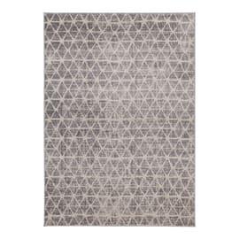 Tappeto Casa a avorio e grigio chiaro 180x60 cm