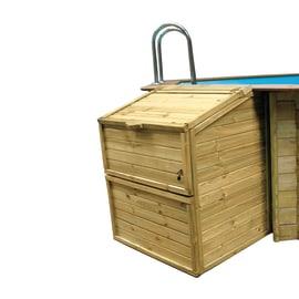 Baule da esterno Locale tecnico per filtrazione  in legno 100 x 88 cm