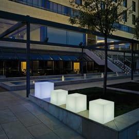 Lampada da esterno Cuby H43cm, in plastica, luce bianco, E27 NEWGARDEN