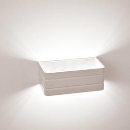 Applique Carol bianco, in metallo, 20 cm, LED integrato 8W
