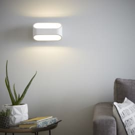 Applique LED integrato Koper bianco, in metallo, 16 cm, LED integrato 5W 550LM IP20 INSPIRE