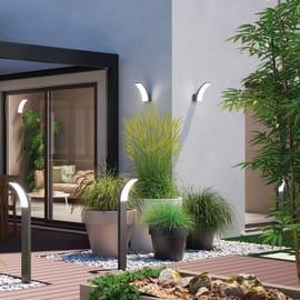 Applique Lakko LED integrato in alluminio, grigio, 11W 1500LM IP44 INSPIRE