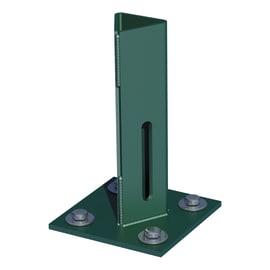 Supporto per palo   in acciaio verde L 100x H 15