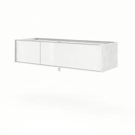 Base Neo Frame 1 cassetto 1 anta L 135 x P 48 x H 33 cm bianco lucido SENSEA