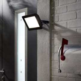 Proiettore LED integrato in alluminio, antracite, 50W IP65 INSPIRE