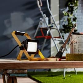Proiettore LED integrato Yonkers in alluminio, nero, 20W 1800LM IP65 INSPIRE