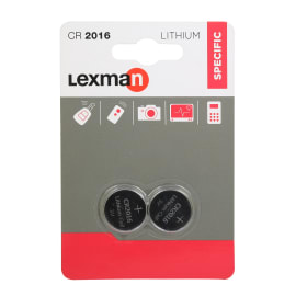 Batteria al litio CR2016/DL2016 LEXMAN 844958 2 batterie