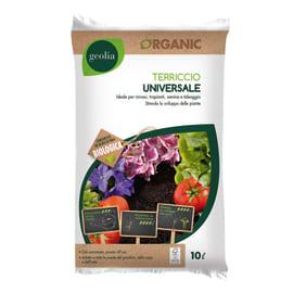 Terriccio universale GEOLIA ideale per rinvasi, trapianti, semina e taleaggio 10 L