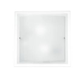 Plafoniera Doppio trasparente, in vetro, 40x40 cm, E27 2xMAX60W IP20