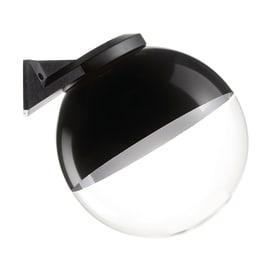 Applique Globo in plastica, nero - trasparente, E27 MAX60W IP44