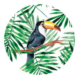 Vetro dipinto REGART ROND BIRD 65 65x65 cm