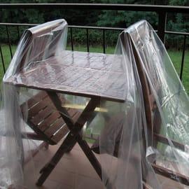 Telo di protezione impermeabile trasparente spessore 150 micron 100 x 2 m