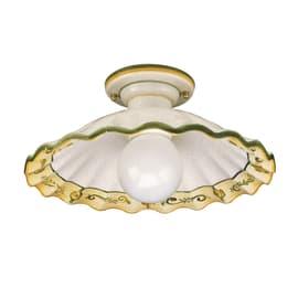 Applique Prato in ceramica, bianco/giallo/verde, E27 MAX60W IP54