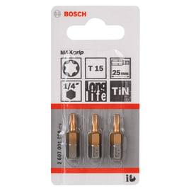 Inserto torx BOSCH T15 3 pezzi