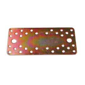 Piastra dritta 200 x 90 mm, in acciaio zincato ad alta resistenza alla corrosione