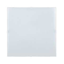 Plafoniera Brixen bianco L 56 x H 56 cm