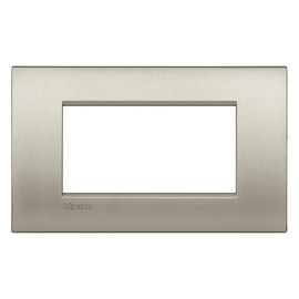 Placca 4 moduli BTicino Livinglight Air titanio