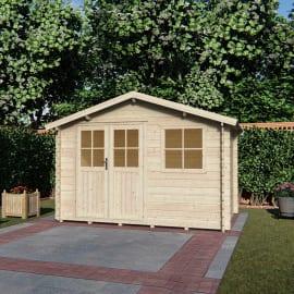casetta in legno grezzo Mila  3025/28mm 7,2 m², spessore 28 mm