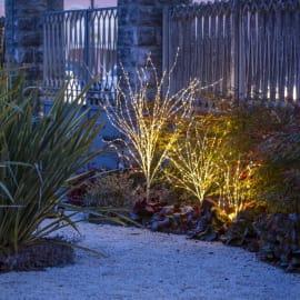 Ramo  bianco luminoso 220 minilucciole Led classica gialla H 100 cm