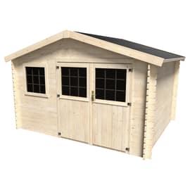 casetta in legno grezzo Azalea 9,05 m², spessore 28 mm