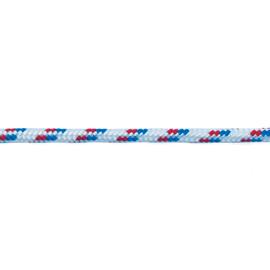 Corda in polipropilene Ø 6 mm bianco, rosso e blu con segnalino