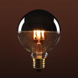 Lampadina decorativa Filamento E27 =63W globo 320°