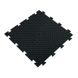 Piastrella PVC Tecnic riso 50 x 50  cm x 8  mm nero