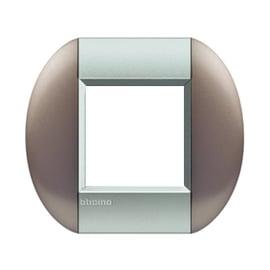 Placca 2 moduli BTicino Livinglight bronze
