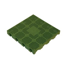 Piastrella polipropilene forata 40 x 40  cm x 48  mm verde