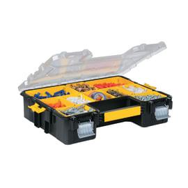 Contenitore porta minuterie estraibili, 8 comparti, colore nero/giallo