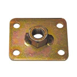 Piastra dado m12 60 x 50 mm, in acciaio zincato ad alta resistenza alla corrosione