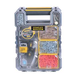 Organizer porta minuterie, 6 comparti, colore grigio/giallo