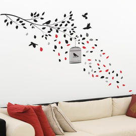Wallsticker XL Black cage