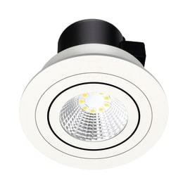 Faretto da incasso Oris bianco LED integrato orientabile rotondo Ø 9 cm 5 W = 550 Lumen luce calda