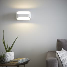 Applique LED integrato Koper bianco