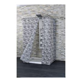 Tenda doccia Claro bianca/nera L 180 x H 200 cm