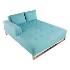 Chaise longue Australian con bracciolo sinistro azzurro