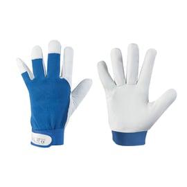 Guanti in cotone con spalmatura in pelle Vega G520 blu tg. 8/M