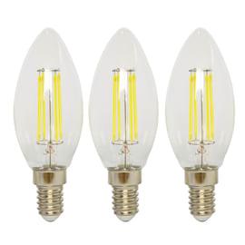 3 lampadine LED Lexman E14 =40W oliva luce fredda 360°
