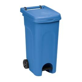 Bidone Urban Eco System apertura a pedale blu satinato 80 L