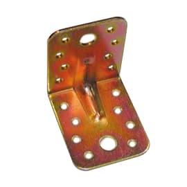 Piastra piegata 65 x 55 mm, in acciaio zincato ad alta resistenza alla corrosione