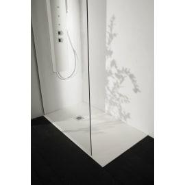 Piatto doccia resina Liso 70 x 70 cm bianco