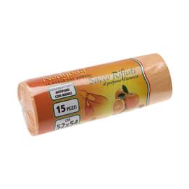 Sacco rifiuti Nodybag 54 x 52 cm arancio 15 pezzi