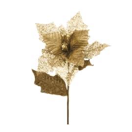Fiore stella di natale oro