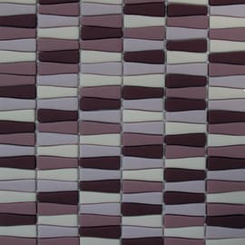 Mosaico Onda 30 x 29,5 cm viola, rosa