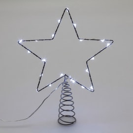 Puntale a stella luminoso 20 Led bianca fredda H 26 cm